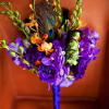 Purple and Peacock Bouquet