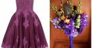 Purple Ballerina Bridesmaid Dress