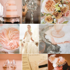 Peach Cream Blush and Champagne Wedding Theme