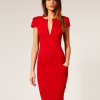 Red Pencil Dress By Asos