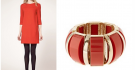 Whistles Red Dress Meets Red and Gold Bracelet by FCUK