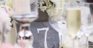 Stone style Table Numbers