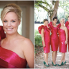 Bridesmaids in Fuschia Pink