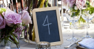 Blackboard Table Numbers for Wedding Decor