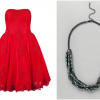 Red Ted Baker Dress and French Connection Choker