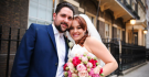 Gemma and Stefano Happy at their Home House Wedding in London