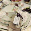 Vintage wedding place settings