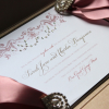 Pink and Gold Wedding Invite By Leonie Gordon London