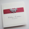 Bubbly Creations Butterfly Crystal Pocket raspberry