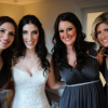 Andaz bride with her bridesmaids in London wedding