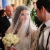Gorgeous bride meets her groom at Jewish ceremony in Andaz hotel London