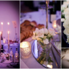 Lily of the Valley and other White flowers at Andaz Wedding with Mood Lighting