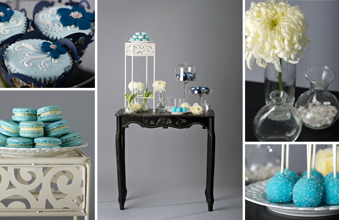 Blue Wedding Cake Pop Table
