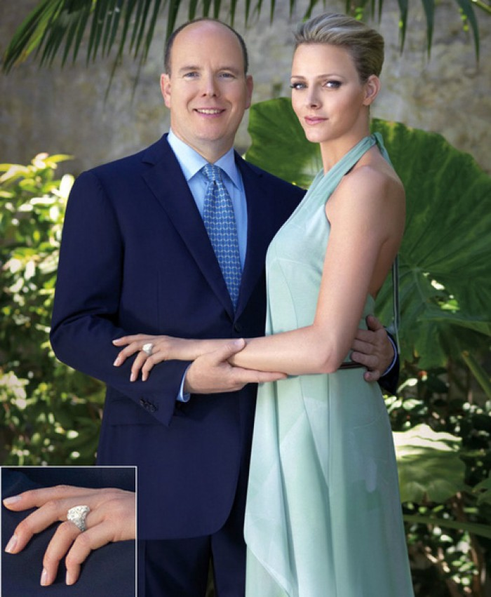 Charlene Wittstock Engagement Ring
