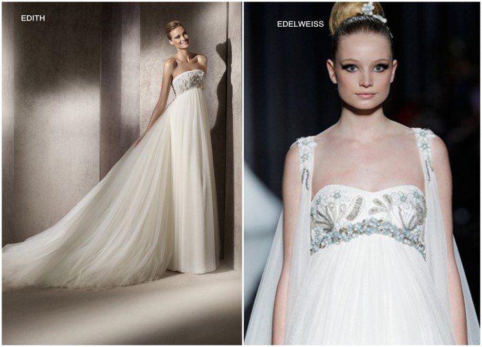 Edith and Edelweiss By Manuel Mota Greek Goddess Style Gown