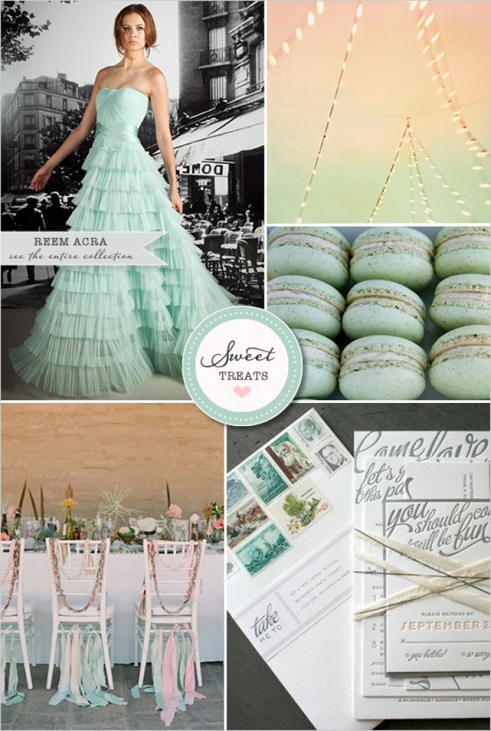 Seafoam and Peach Wedding Theme