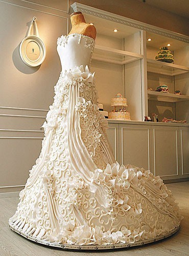 Wedding Dress and Wedding Cake