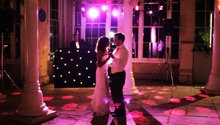 Pink Colour Washing at Syon Park for Couple's First Dance in Conservatory