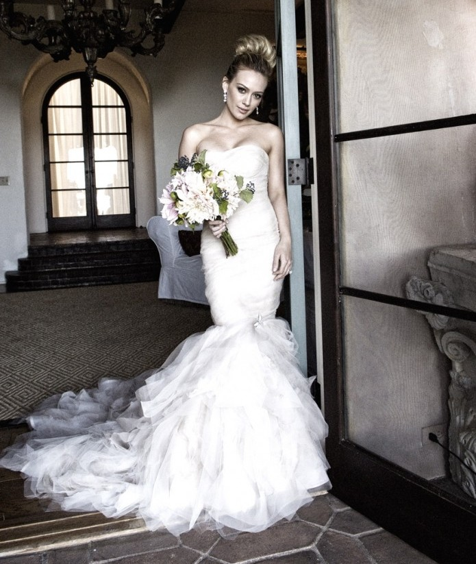 Hillary Duff Wedding Dress by Vera Wang