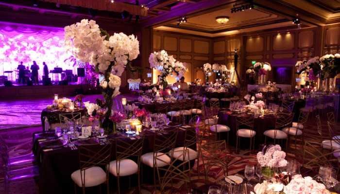 Party at Grand Del Mar by Mindy Weiss with Long Tables and Chic Decor suitable for weddings