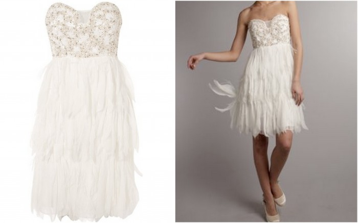 House of Fraser Feather Grecian Wedding Dress